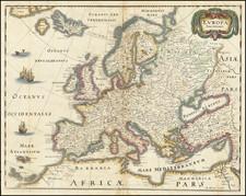 Europe Map By Matthaus Merian
