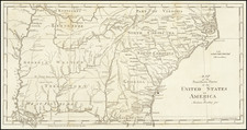 Map of the Southern Parts of the United States of America By Abraham Bradley Junr. By Jedidiah Morse / Abraham Bradley