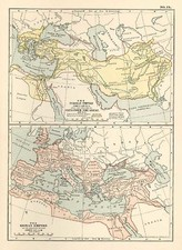 Europe, Europe, Mediterranean, Asia and Central Asia & Caucasus Map By George F. Cram