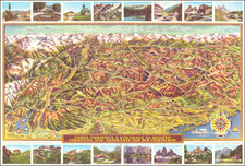Austria, Northern Italy and Pictorial Maps Map By Caminades