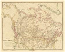 Plains, Rocky Mountains, Alaska and Canada Map By John Arrowsmith