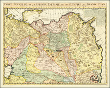 China, Central Asia & Caucasus and Russia in Asia Map By Henri Chatelain