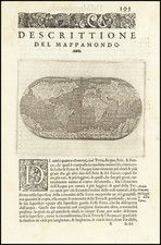 World Map By Tomasso Porcacchi