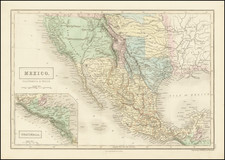Texas, Southwest, Arizona, Colorado, Utah, Nevada, New Mexico, Colorado, Utah, Mexico and California Map By Adam & Charles Black