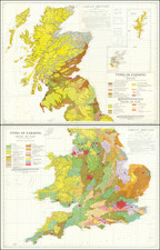 England, Scotland and Wales Map By Ordnance Survey