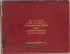 California, Los Angeles and Rare Books Map By California State Mining Bureau
