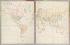 World, Polar Maps and Texas Map By Henry Teesdale