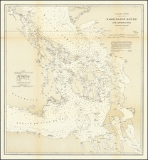 Washington, Canada and British Columbia Map By U.S. Coast & Geodetic Survey