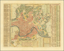Rome Map By Henri Chatelain
