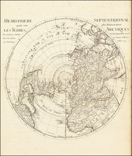 Northern Hemisphere, Polar Maps and Pacific Map By Guillaume De L'Isle