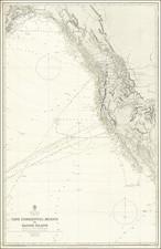 Oregon, Washington, Alaska, Baja California, California and Canada Map By British Admiralty