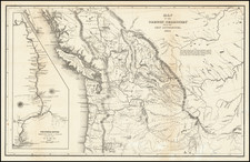 Rocky Mountains, Pacific Northwest, Oregon, Washington and British Columbia Map By Charles Wilkes