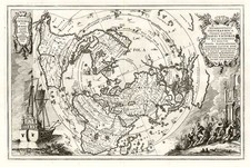 World, World, Northern Hemisphere, Polar Maps and North America Map By Heinrich Scherer