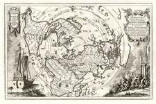 World, World, Northern Hemisphere, Polar Maps and North America Map By Heinrich Scherer