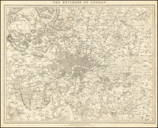 London and British Counties Map By SDUK
