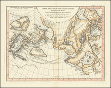 Alaska, Canada and Russia in Asia Map By Denis Diderot / Didier Robert de Vaugondy