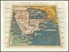 Middle East and Arabian Peninsula Map By Giovanni Antonio Magini