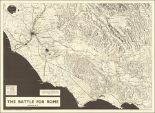 Italy, Rome and World War II Map By George Philip & Son / McKerrow / ABCA Map Review