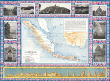 Indonesia and Pictorial Maps Map By Dutch East-Indian Government Railways
