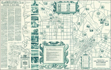 Pictorial Maps and Los Angeles Map By The All-Year Club of Southern California