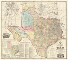 Texas Map By Anton R. Roessler  &  Maximilian Van Mittendorfer