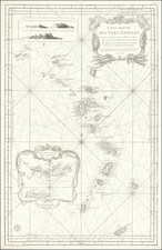 Caribbean, Virgin Islands and Other Islands Map By Jacques Nicolas Bellin