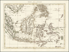 Philippines, Singapore, Indonesia and Malaysia Map By Antonio Zatta