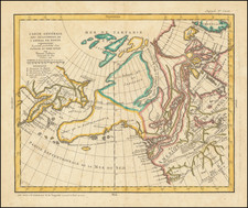 Polar Maps, Alaska, Russia in Asia and Canada Map By Denis Diderot / Gilles Robert de Vaugondy