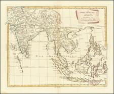 India, Southeast Asia, Philippines, Indonesia and Thailand, Cambodia, Vietnam Map By Antonio Zatta