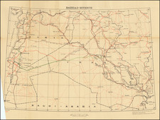 Middle East, Holy Land and World War II Map By Survey of India