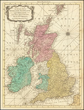 British Isles Map By Richard William Seale