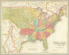 United States Map By John Melish