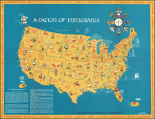 United States and Pictorial Maps Map By Daniela Passal