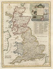 Europe and British Isles Map By John Russell