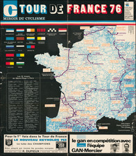 France and Pictorial Maps Map By Miroir du Cyclisme