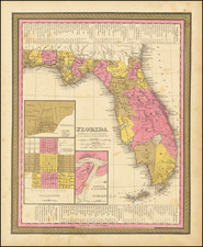 Florida Map By Samuel Augustus Mitchell