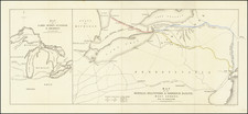 New York State, Pennsylvania, Midwest, Ohio, Canada and Eastern Canada Map By Royston & Brown
