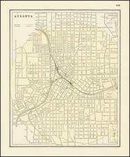 Georgia Map By George F. Cram