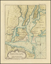 New York City and New York State Map By Jacques Nicolas Bellin