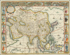 Asia with the Islands adjoining described, the attire of the people, & Townes of importance, all of them newly augmented . . . 1626 By John Speed