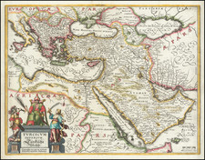 Turkey, Middle East, Arabian Peninsula and Turkey & Asia Minor Map By Matthaus Merian