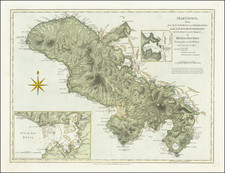 Martinique Map By Laurie & Whittle