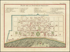 Louisiana and New Orleans Map By Jacques Nicolas Bellin
