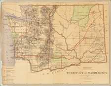 Washington Map By General Land Office