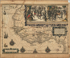 Africa and West Africa Map By Carel Allard
