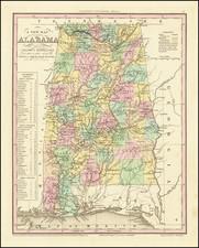 Alabama Map By Henry Schenk Tanner