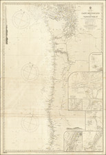 Pacific Northwest Map By British Admiralty