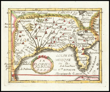 Florida and South Map By Pierre Du Val