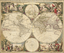 World and Polar Maps Map By Gerard Valk