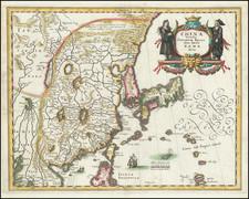 China, Japan and Korea Map By Matthaus Merian